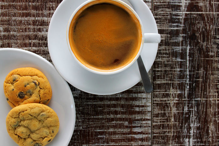 Americano Black Coffee Cafe Americano Chocolate Chip Cookies Coffee Coffee And Cookies Coffee Break Coffee Time Color Palette A Bird's Eye View Two Is Better Than One
