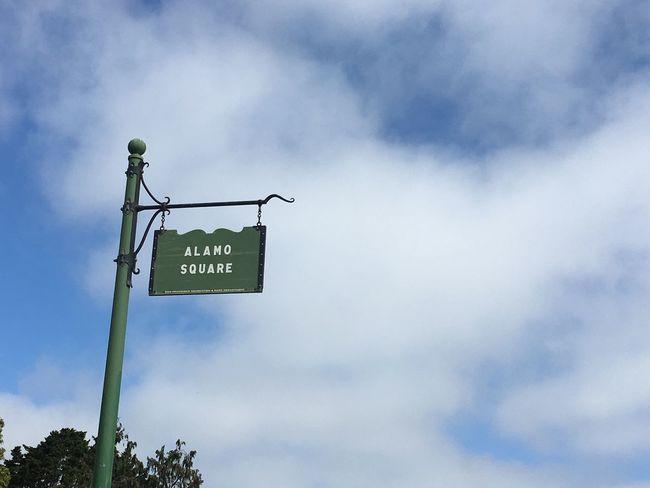 Alamo square San Francisco California USA Throwback Trip Photo Cloud - Sky Road Sign Outdoors