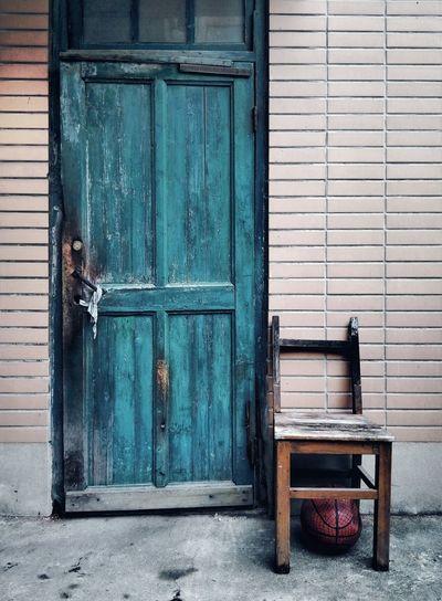 Abandoned door of house