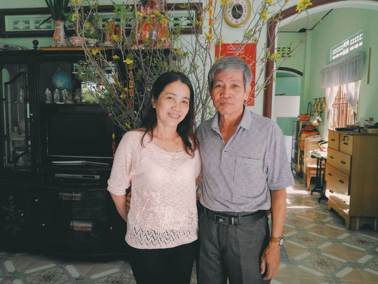 My Parents. First day of Lunar New Year! ❤❤❤ Two People People Smiling Happiness Photography Beautiful Studio Shot Vietnam Selfie✌ One Person Photo Cute Beauty Looking At Camera Cool Eyeemgallery EyeEm Best Shots Eyeemphotography Photooftheday Warm Clothing VSCO Vscocam Selfie Time First Eyeem Photo House