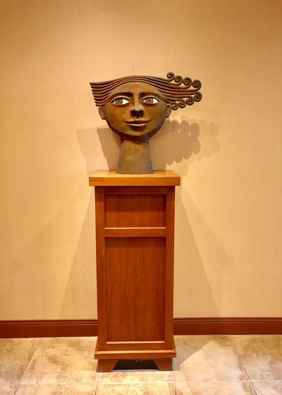 Wooden Face Face Art Face Lobby Statue Wooden Table Wall - Building Feature No People Art And Craft Indoors  Wood - Material Creativity Architecture Wall Brown