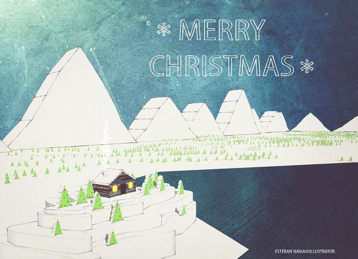 Illustration Mywork Merry Christmas 3d Sketchup