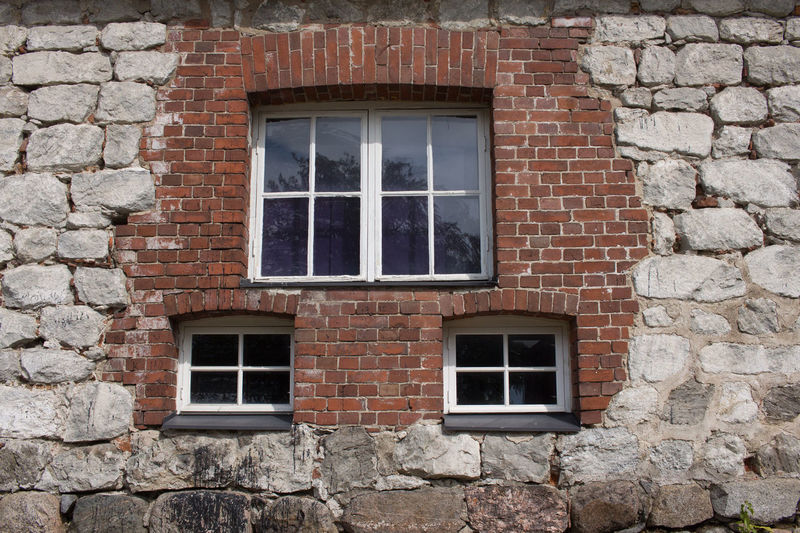 Architecture Building Exterior Wall Brick Window Built Structure No People Building Outdoors House Stone Material Door Day