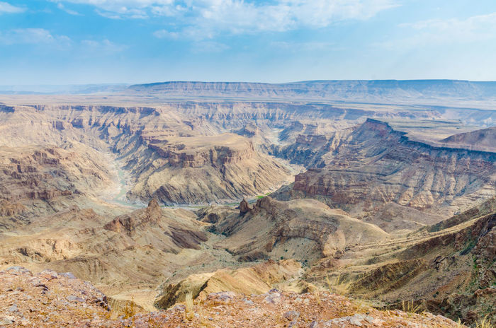 Nature African Africa Landscape Fish River Canyon Destination Gorge Canyon Namibia