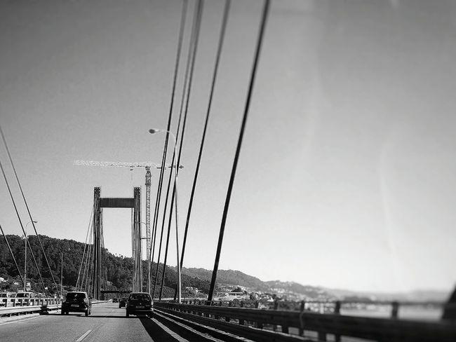 Rande Bridge Hightway Cars Ría De Vigo Rande