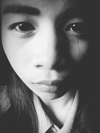 Lonelygirl Sadness😢 Blackandwhite Selfie✌