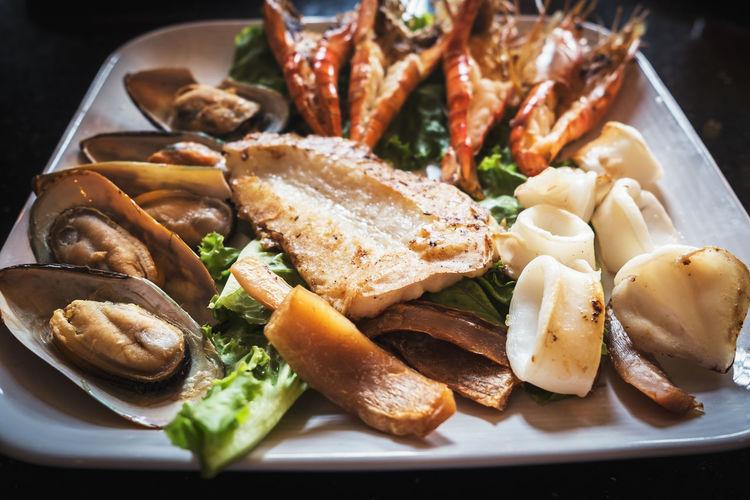Mix Grill Seafoods Sea Food Sea Food Dinner Seafood Grill
