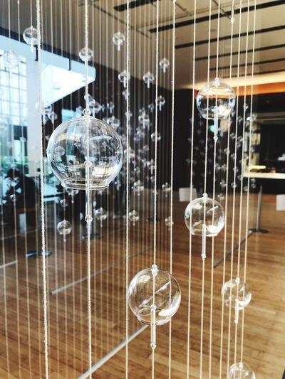 風鈴 Art Glass - Material Indoors  No People Reflection Transparent Hanging Close-up Glass