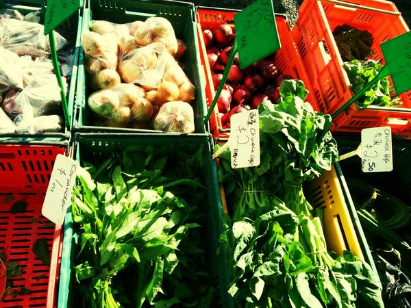 Variety of GREEN. Discovery of Sunday market.:-)