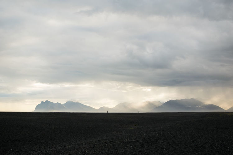 Dramatic Sky Iceland Beauty In Nature Black Sand Beach Cloud - Sky Environment Landscape Mountain Mountain Range Nature Non-urban Scene Outdoors Remote Scenics - Nature Sunset Tranquil Scene Tranquility