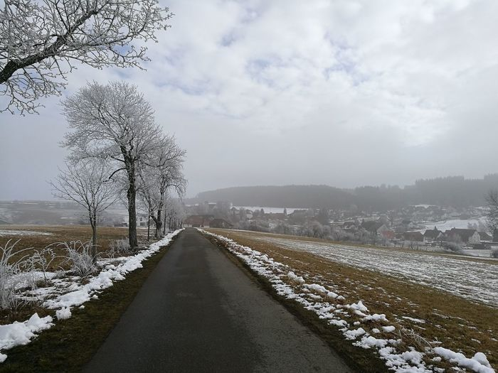 Auenberg Snow Cold Temperature Weather Road Fog No People