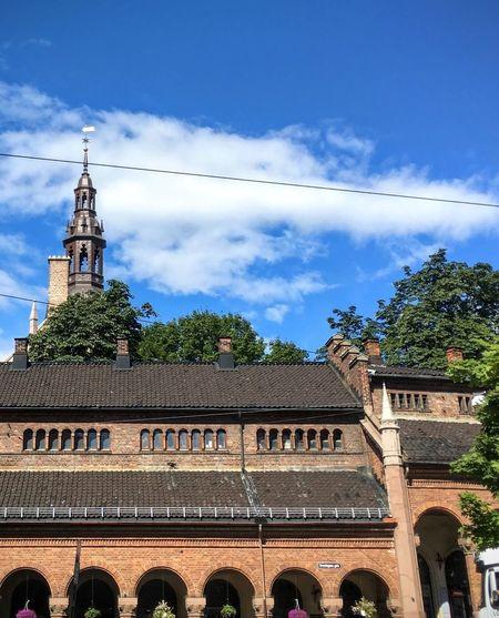 'I 💗 Oslo' Sky Architecture Cloud - Sky Blue Outdoors Travel Destinations History Church Tree Day Building Exterior No People Clock Tower Clock City Oslo Main Church Clock Face Landmarkbuildings Oslo✌ 2017 Scenics Summer KJ✨