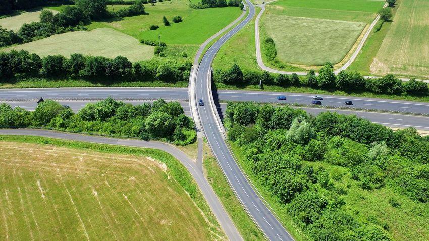 German Autobahn Autobahn Autobahnbrücke Deutschland Deutschland Von Oben Drohne Drohnenbild German Autobahn German HighWay Germany Highway Landschaft Luftbilder Roads Straßen