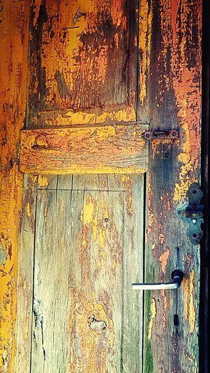 Door Colorful Old Memories Some Story Old Things Lost Forget