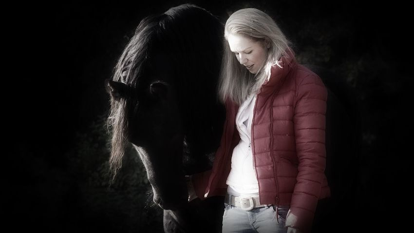 Frisian Horse Horse Horses Beautiful Girl Woman Portrait Of A Woman Forestwalk Romantic Enjoying Life Sony NEX Holland Peace And Quiet Natural Close-up Animal Themes Lovely Dream Animal Love Animal Photography Colourful Eyemphotography Eyeemphotography Everyday Lives Portraits Dreaming