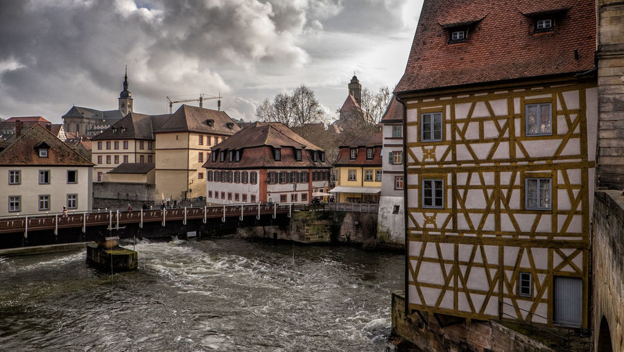 Old town hall and historic city of Bamberg Epic Houses Rain Architcture Bamberg  Epic Sky Fall Germany Half-timber House Historic Old Town Hall Sky