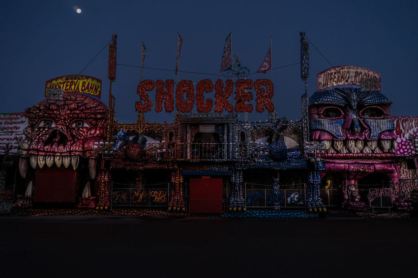 Forgotten Projects Funfair Oktoberfest Wiesn Amusement Park Amusement Park Ride Architecture Arts Culture And Entertainment Built Structure Multi Colored Night No People Outdoors Sky