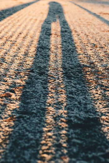 Day Sunlight Nature Shadow Selective Focus Outdoors Road One Person High Angle View Focus On Shadow Pattern Marking
