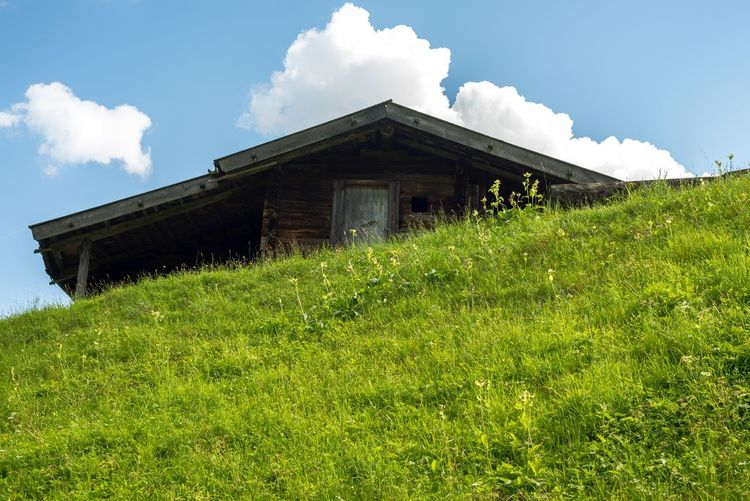 Grass Architecture Built Structure Building Exterior House Alps Austria Alpine Hut Cheese Mountains Low Angle View Wood Home Up Nikon Nikonphotography Nikond750 Zillertal Travel Destinations Travel Photography Landscape Landscape_Collection Landscape_photography Full Frame