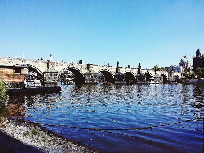 Architecture Water Bridge Praha Holiday