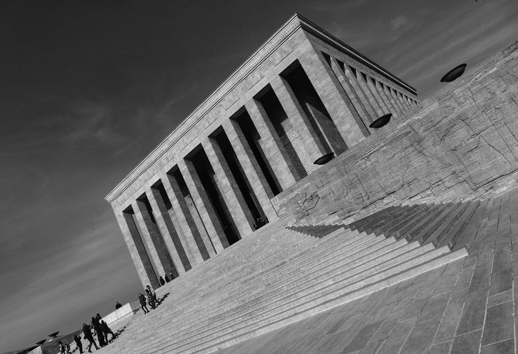 Low Angle View Of Ataturk Mausoleum Against Sky