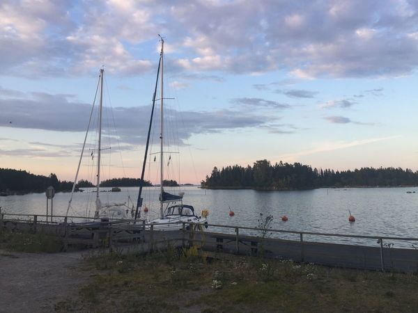 Sunset In Sweden Sky Water Cloud - Sky Nautical Vessel Transportation Nature Mode Of Transportation Outdoors