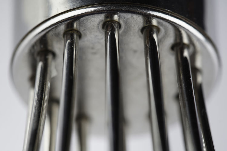 Close-up of fork in container