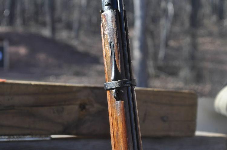 Mosin Nagant Rifle Gun at a Shooting Range Gun Nugget Target Wood Ammo Ammunition Bayonet Bullet Bullets Distance Equipment Hunting Measure Military Mosin Mosin Nagant Range Rangefinder Rifle Shooting Sight Sport Sword War Weapon