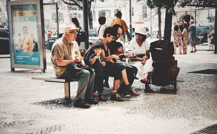 People Watching Taking A Break Generations Color Portrait Family Matters From My Point Of View Melancholic Cityscapes
