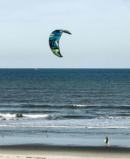 Kite or board, it's up to you Sea Horizon Over Water Beach Nature Beauty In Nature Leisure Activity Scenics Extreme Sports One Person Real People Sport Lifestyles Adventure Water Vacations Sky Clear Sky Day