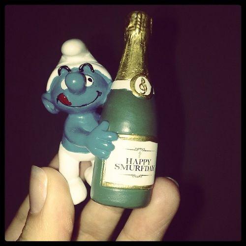 Benimbiricik Şirinim  şirinleraşkına ! Happy Smurfday solanahtarı mavi minik sevimli dost yeşil