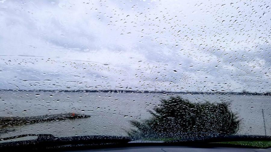 Through the Rain💦💧🌧 Water Backgrounds Drop Wet Car Full Frame Sky Close-up