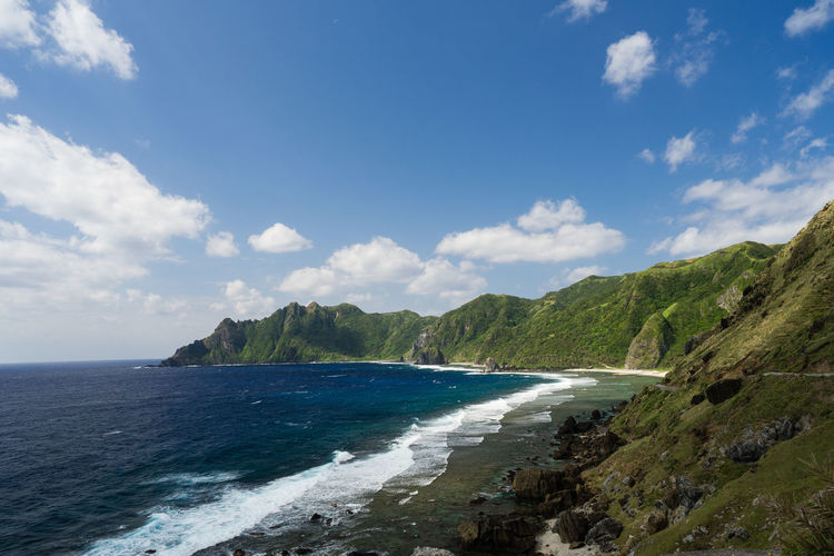 Batanes ASIA Batanes Islands Batanes, Philippines Green Nature Philippines Batanes Beach Beauty In Nature Cloud - Sky Day Hill Horizon Horizon Over Water Land Landscape Mountain Nature No People Scenics - Nature Sea Seascape Sky Tranquility Water