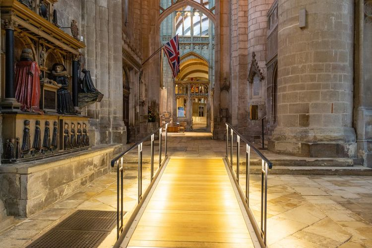 History The Past Arch Aisle No People Direction The Way Forward Architecture Place Of Worship Cathedral Ramp