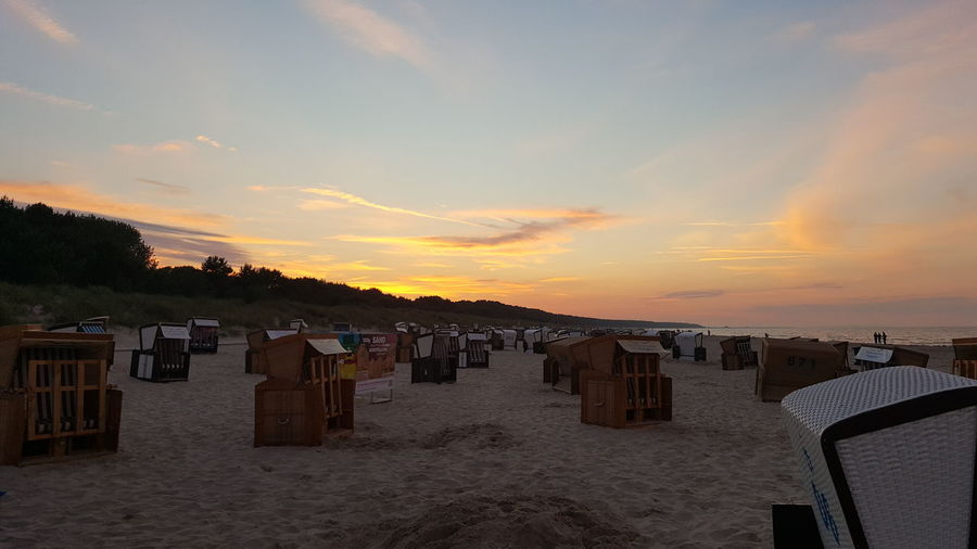 Beautiful Sunset east sea Holiday Beach Eastsea-coast Germany Sunset City Beach Sky Cloud - Sky