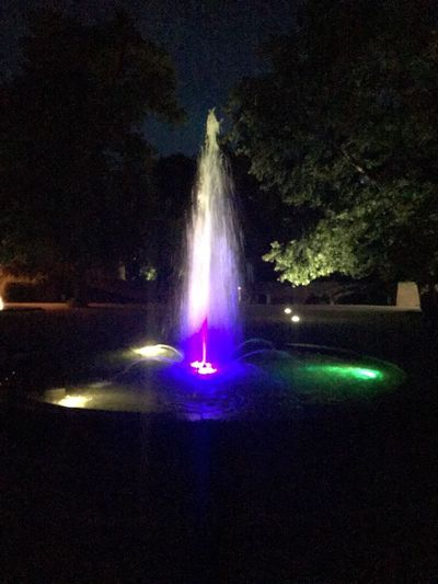 Fountain Lights Fountain Night Illuminated Motion Water Nature No People Long Exposure Night Illuminated Motion Water Nature No People Long Exposure Outdoors