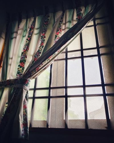 Low angle view of window at home