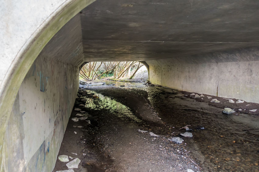 Stream under overpass in Dash Point, Washington. Overpass Washington State Architecture Below Bridge - Man Made Structure Built Structure Dash Point Day Indoors  Nature No People Streamzoofamily Tunnel Under Underneath Water