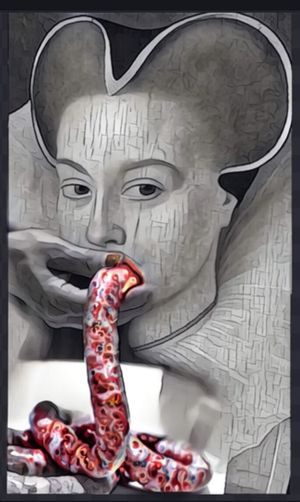 Photographic Approximation Exploring The Subconscient It's Time To See The Meat For What It Is Pain Suffering And Death Don't Let It In Your Body Facial Experiments Meat Is Murder Surrealism