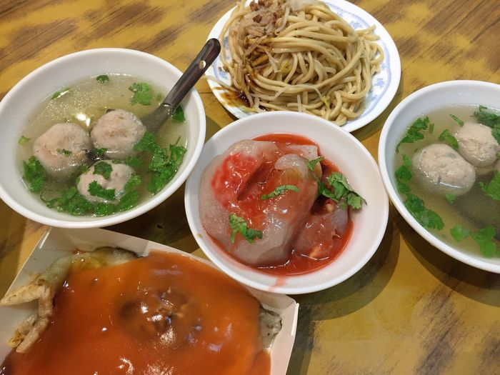 Taiwanese Food Food Meatball Soup Oh Chien Noodle Making Oyster Omelette Ba Wan Ba Wan Meatballs Taiwanese Meatball Food And Drink Food Bowl Freshness Ready-to-eat Table Healthy Eating Close-up Meat Indoors  Still Life High Angle View Wellbeing Asian Food Soup Serving Size No People Meal