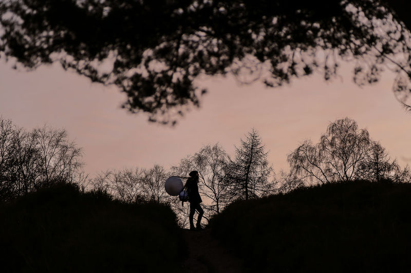 Fears - Adriano Miccoli - Conceptual Photography  Climb Beauty In Nature Full Length Hill Nature Outdoors Real People Rear View Silhouette Sky Sunset Tree Walking Hiking Landscape The Week On EyeEm Editor's Picks