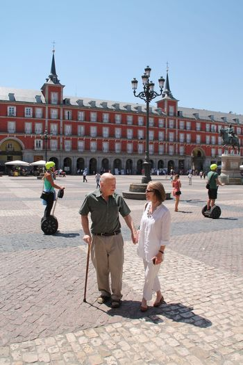 People Together Check This Out Hello World Relaxing Taking Photos Enjoying Life Couple Love Plaza Mayor (Madrid). Sunny Day When A Man Loves A Woman Segway Square Lovers Architecture Buildings Streetphotography Street Photography EyeEm Best Shots Eye4photography  EyeEm Gallery The Street Photographer - 2017 EyeEm Awards The Photojournalist - 2017 EyeEm Awards People And Places