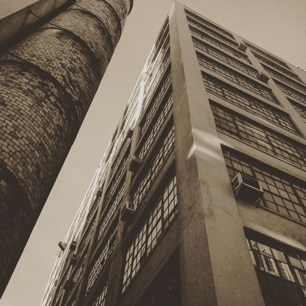 Lookingup at The High Line ! Highline Highlinepark Highline Park HighLineParkNYC Industrial Chimney Windows Angle On Point  Onpoint Frog Perspective The Architect - 2015 EyeEm Awards Sepia