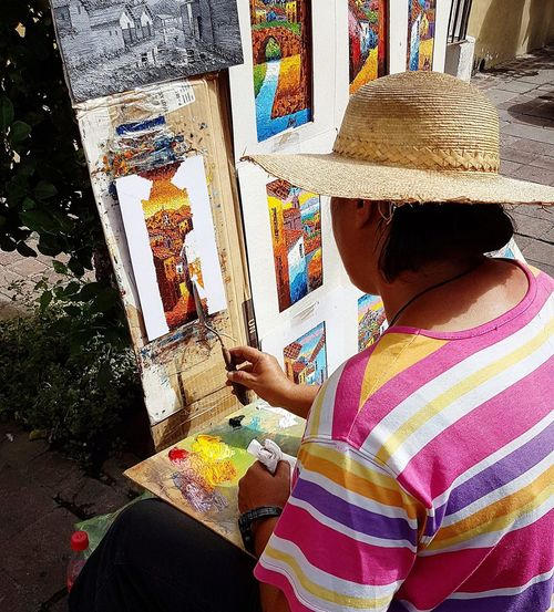 Urban Art Urban Painting Art EyeEm Selects Tlaquepaque Tradition Low Section Young Women Women Close-up Colorful