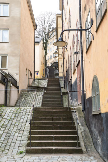 Staircase Amidst Buildings In City