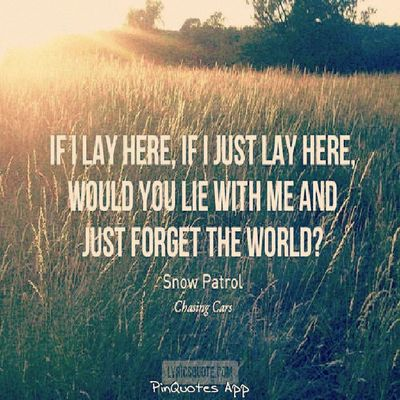 soundtrippin' chasing Cars by snow patrol... [snuggling on a couch ]