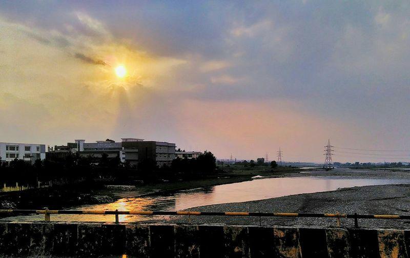 #river #sunset