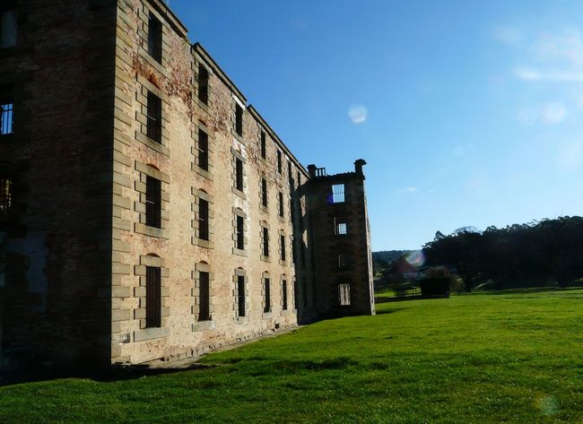 Penal Colony Ruins- Port Arthur Tasania Australia Architecture Australia Blue Building Built Structure Cloud Cloud - Sky Convicts Day Exterior Grass Grassy Green Color Growth Landscape Lawn Nature No People Outdoors Penal Colony Sky Tasmania Tranquility