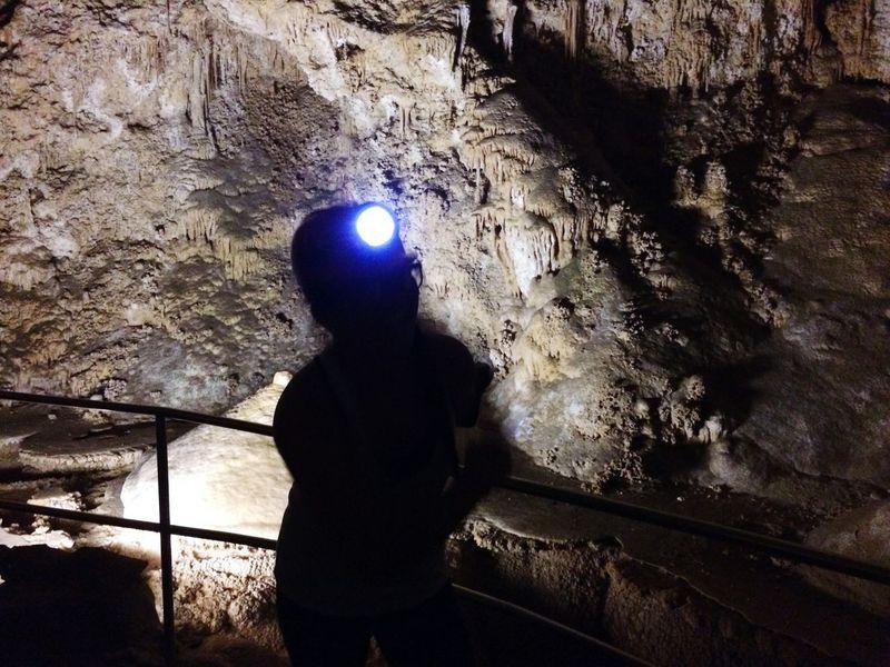 Way underground. CarlsbadCaverns