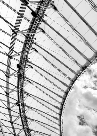 Black & White Black And White Blackandwhite Design Lines, Shapes And Curves Lines And Shapes Lines Stadium Atmosphere Stadium Sports Sport Football Soccer Architecture Maracanã Stadium Low Angle View Sky Cloud - Sky Day No People Outdoors